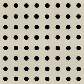 Masai Mara Linen Neutrals - Onyx Dots