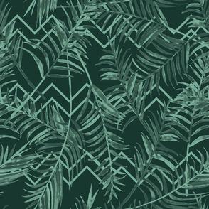 TULUM - Palm paradise - green