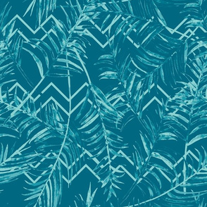TULUM - Palm paradise - blue