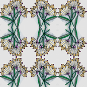 floral gridlock-green