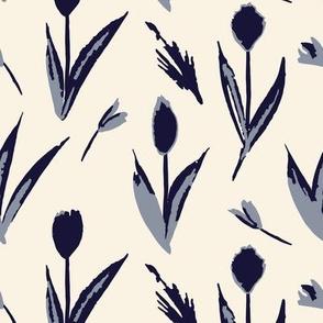 Haru - Tulip toss (Indigo)