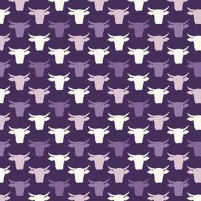 Cow Heads - Mini - Purples