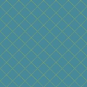 diamond stitch - dark aqua