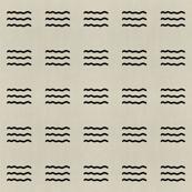 Maasai Linen Neutrals - Onyx Waves
