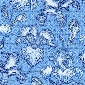 Iris Shibori (chinz blue)