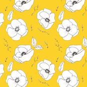 Poppy Pattern Mustard