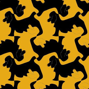 Black and Gold Cocker Spaniel Tesselation