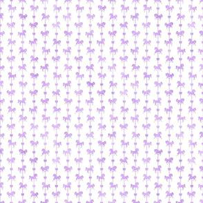 Micro Carousel Stripe Pattern in Lavender Watercolor on White