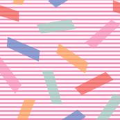 Colorful blocks on stripes