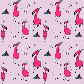 Flamingo Party in Purple