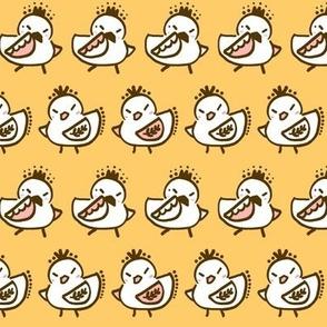 Dancing Birdies Bright Yellow