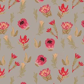 protea_prime_light_grey flower pattern