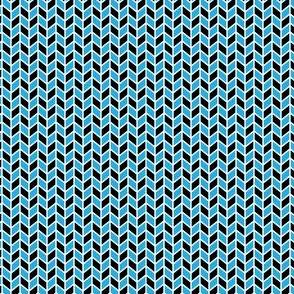 Geometric Pattern: Chevron: Black/Blue