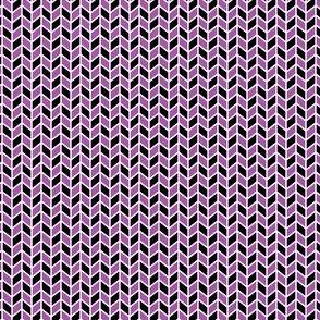 Geometric Pattern: Chevron: Black/Purple