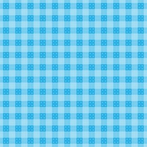 Geometric Pattern: Button Weave: Light/Blue