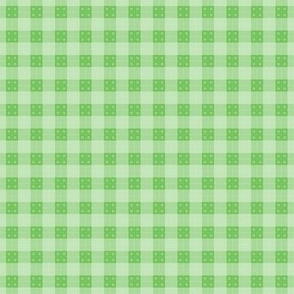 Geometric Pattern: Button Weave: Light/Green