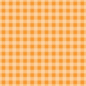 Geometric Pattern: Button Weave: Light/Orange
