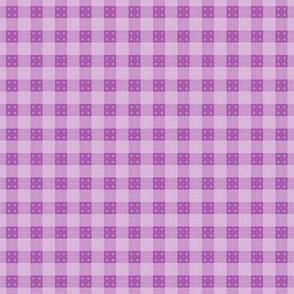 Geometric Pattern: Button Weave: Light/Purple