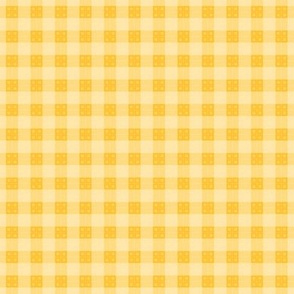 Geometric Pattern: Button Weave: Light/Yellow