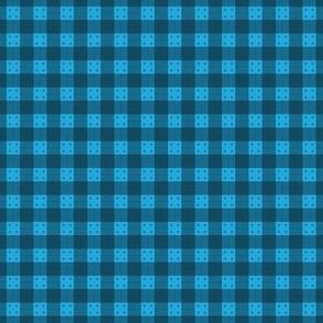 Geometric Pattern: Button Weave: Dark/Blue