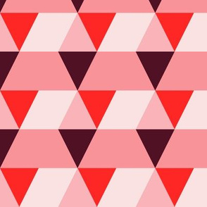 Triangle red pink