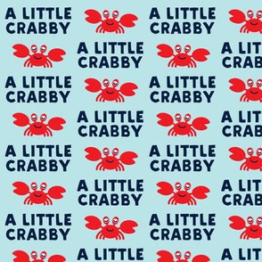 a little crabby - blue & navy - nautical summer - LAD19