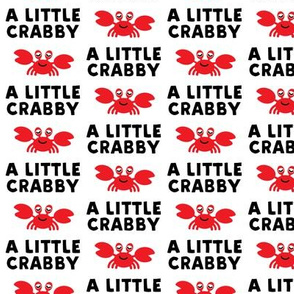 a little crabby - white - nautical summer - LAD19