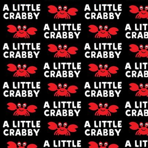 a little crabby - black - nautical summer - LAD19