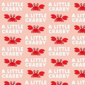 a little crabby - peach - nautical summer - LAD19