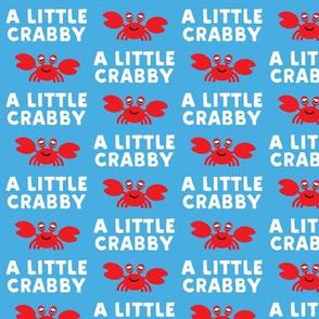 a little crabby - blue - nautical summer - LAD19