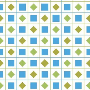 green blue check squares