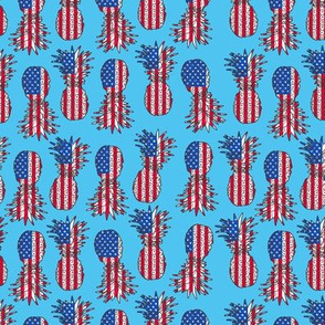 patriotic pineapple blue micro