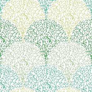 Green spiral twigs
