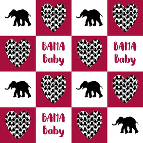 bama baby cheater quilt 6in squares
