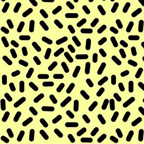 Ticker Tape - black on yellow