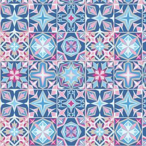 Morocco inspired tile arrangement