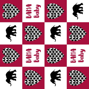 bama baby cheater quilt 6in squares horizontal