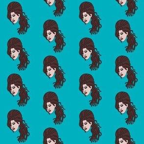 Amy winehouse, music, musician, artist, woman, female, Brit, British, singer, artist - turquoise
