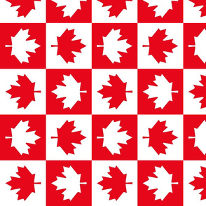 checkered maple leafs squares med vertical || canada day canadian july 1st