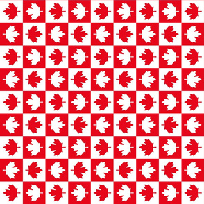 checkered maple leafs squares sm vertical || canada day canadian july 1st