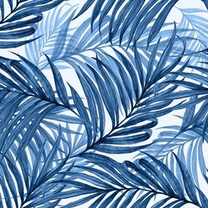 Palm Leaves (indigo)