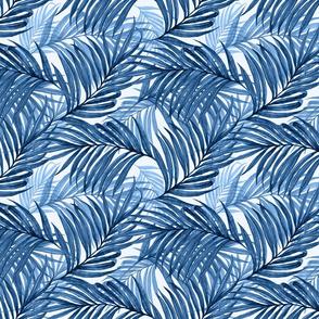 Palm Leaves (indigo)50