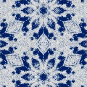 Feathery Snow Pattern | Blue