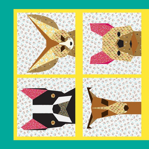 patchwork quilted dogs