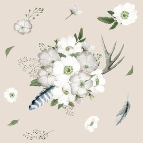 Rustic Woodland Florals // Pearl Apricot