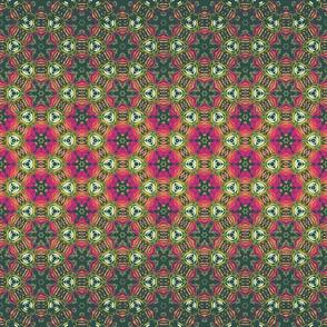 pink green bohemian kaleidoscope