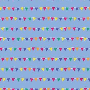 colorful banderola stripes on blue