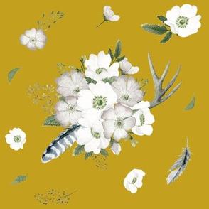 Rustic Woodland Florals // Gold Nugget