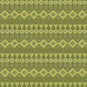 mud cloth 2 in lime and apple green