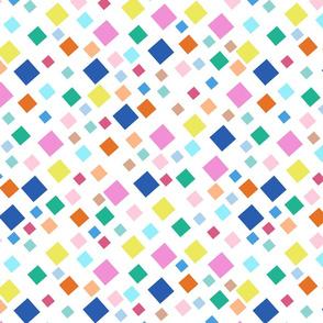 Terrazzo Mosaic Diamonds - white